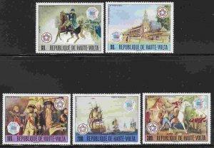 Burkina Faso (Upper Volta) #403-4, C241-3 F-VF Mint NH ** American Bicentennial
