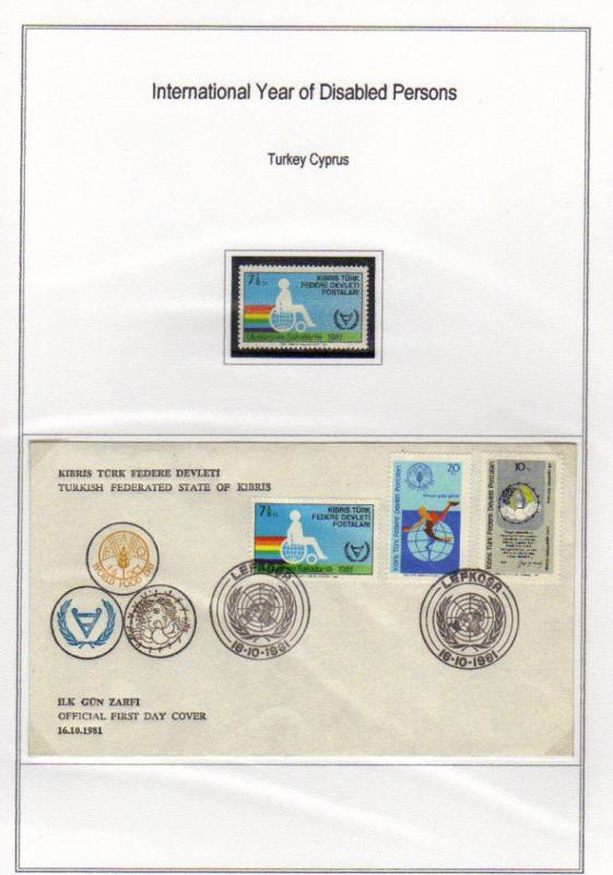 TURKEY-NORTHERN CYPRUS 1981 - Intern. Year of Disabled Persons, MNH, FDC