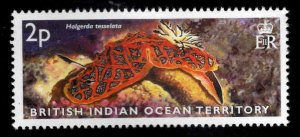 British Indian Ocean Territory BIOT Scott 255 MH* Sea Slug stamp