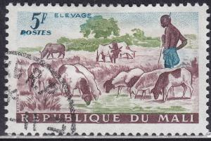 Mali 21 CTO 1961 Herding Sheep