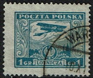 Poland #C1 Used - Airplanes Biplane (1925)