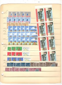 PHILIPPINES COLLECTION ON STOCK SHEET, ALL MINT, MOSTLY MNH