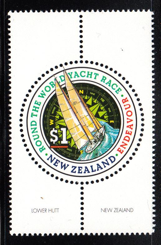 New Zealand 1994 MNH #1198 $1 Endeavour Whitbread Trans-Global Yacht Race rou...