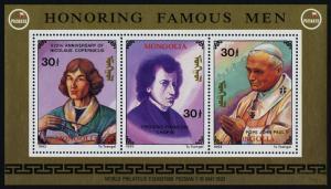 Mongolia 2121 MNH Pope John Paul II, Copernicus, Chopin