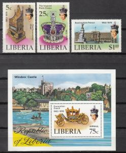 Liberia, Sc # 813-15, C221, MNH, 1978, Coronation