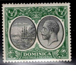 DOMINICA Scott 65 MH* Hinge Remnant stamp
