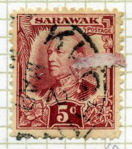 SARAWAK;  1932 early Charles Brooke issue used 5c. value
