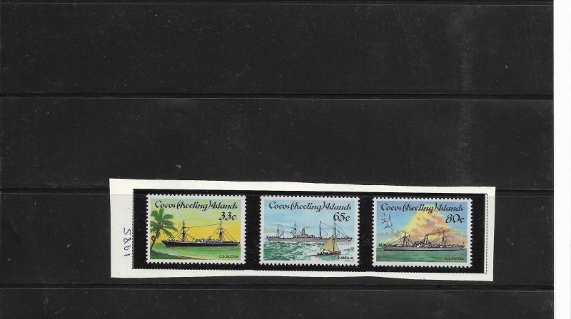 O) 1985 COCOS ISLANDS - KEELING, CABLE LAYING SHIPS - SCOTIA - ANGLIA - PATROL -