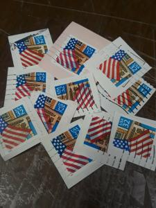 32c Used Flag Over Porch Lots Of 12 Pcs