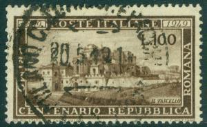 EDW1949SELL : ITALY 1949 Scott #518 Very Fine, Used. Catalog $120.00.