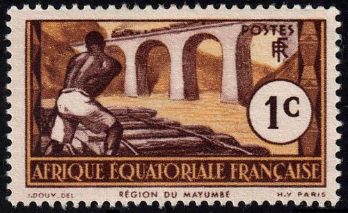 French Equatorial Africa - Scott 33 - Mint-Hinged - Disturbed Gum