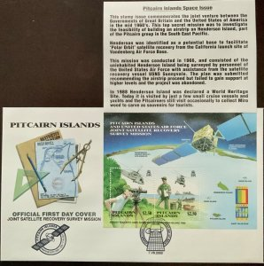 Pitcairn Islands Space Issue US Air Force Personnel Top Secret Mission