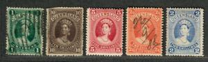 Queensland Sc#79-83 M+U/H, Complete Set, 79 NG, 82 Cut Top, Cv. $530