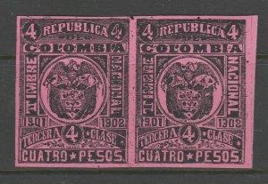 Columbia Latin America Revenue Fiscal Stamp 1-27-21- mnh some gum
