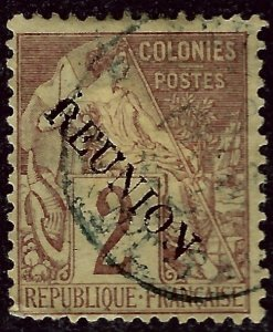 Reunion Sc #18 Used F-VF hr SCV$5...French Colonies are Hot!