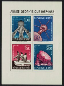 Haiti Penguins Birds Space Submarine International Geophysical year MS SG#MS586