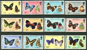 BELIZE Sc#345-354, 356-357 1974 Butterflies Part Set to $1 OG Mint Hinged