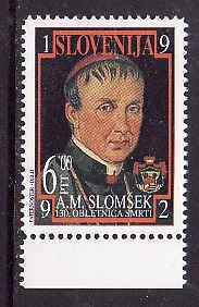 Slovenia-Sc#139-unused NH set-A.M.Siomsek-Bishop of Maribor-1992-