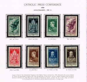 ITALY VATICAN CITY MH/OG STAMPS COLLECTION LOT #7 1936 Exhibition SET $95