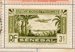 Senegal 1940s AIR Early Issue Fine Mint Hinged 3F. 193314