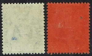 TRINIDAD 1904 BRITANNIA 1/2D AND 1D WMK MULTI CROWN CA