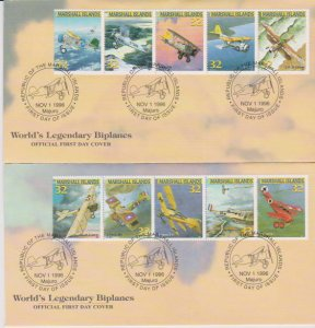 MARSHALL ISLANDSFDC-ON AIR CRAFTS(2) STAMPS USED LOT#153