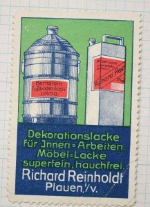 Reinholdt furniture finish stain lacquer non-slip floor paint ad poster stamp