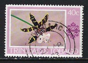 TRINIDAD & TOBAGO 286 VFU ORCHID X499-1