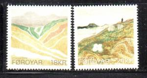 Faroe Islands Sc 534-5 2010 Eli Smith Paintings stamp set mint NH