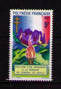 FRENCH POLYNESIA Sc# C69 Memorial Flame