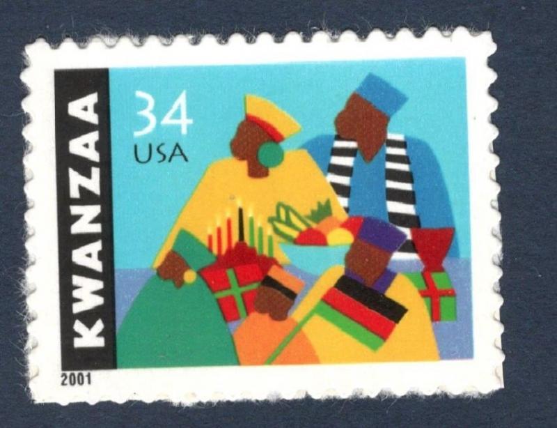 3548 Kwanzaa US Single Mint/nh FREE SHIPPING