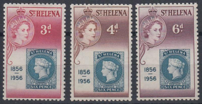 St Helena - 1956 Stamp Centenary (MH)