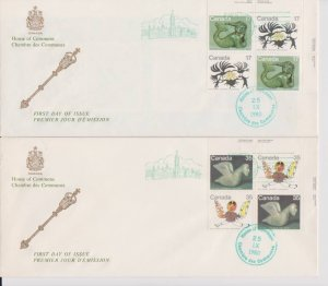 CANADA FDC FROM HOUSE OF COMMONS STAMPS #866-869  LOT#M109