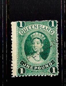 QUEENSLAND 1882-95  1pound   QV   MH SPECIMEN     SG 161s