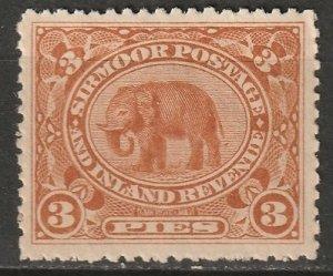 India Sirmoor 1895 Sc 11 MLH*