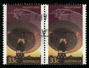 HALLEY'S COMET, Australia, 33 cents (T-7237)