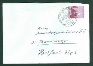 Germany BDR Cover. 1973 Postal Used  40 Pf. Otto Weis Scott # 1124. Adr: