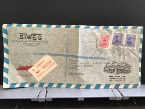 Uruguay Siweg Montevideo Air Mail to England stamps cover R31436