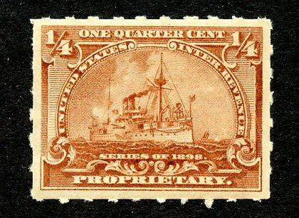U.S. Scott RB21 1/4-Cent Battleship Proprietary Revenue