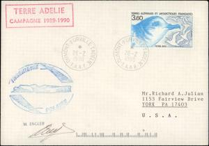 French Southern & Antarctic Territory #205, Antarctic Cachet and/or Cancel