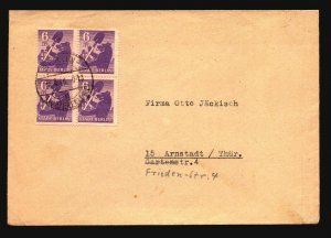 Germany 1946 STADT Berlin Cover / Block of 4 - Z17215