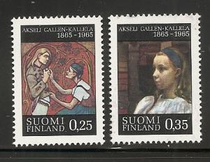 Finland 431-2 1965 100th Gallen-Kallela set MNH