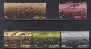 Lesotho # 75-79, Prehistoric Reptile Footprints, LH, 1/3 Cat,