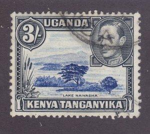 Kenya Uganda & Tanzania 82 Used 3sh Gray Black & Ultra 1950 Perf 13x12½