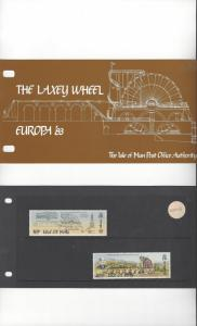 Isle of Man 244-5 Laxey Wheel/Europa 83  MNH Presentation Folder