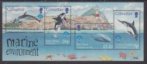 Gibraltar 764 Marine Life Souvenir Sheet MNH VF