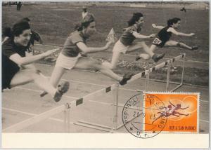 63770 -  SAN MARINO - POSTAL HISTORY: MAXIMUM CARD 1963 - SPORT:  hurdles