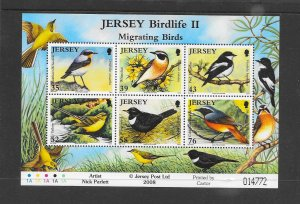 BIRDS - JERSEY #1347a MIGRATING BIRDS  MNH