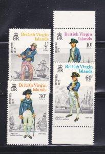 Virgin Islands 237-240 Set MNH Military Uniforms
