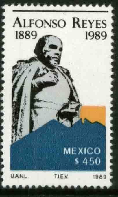 MEXICO 1611, Centenary of the Birth of Alfonso Reyes, AUTHOR. MINT, NH. VF.